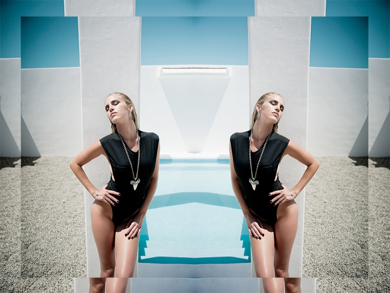 Beth Whitson Soaks up the Sun for Luv Aj Shark Tooth Collection
