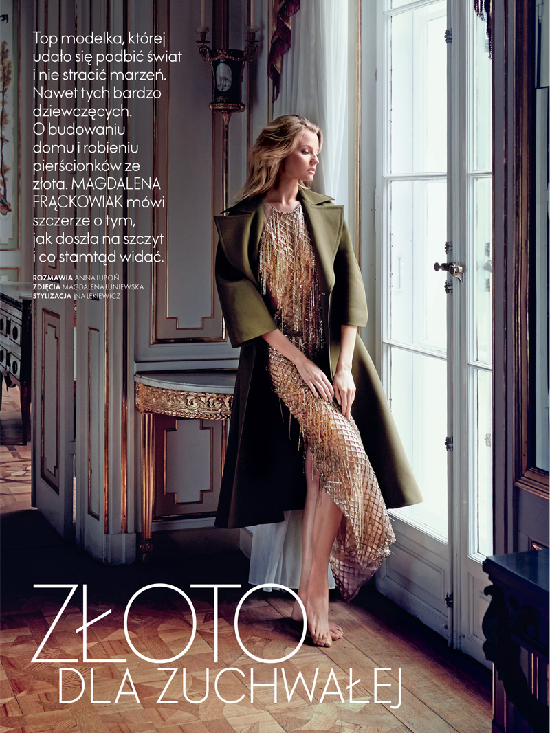 magdalena elle poland1 Magdalena Frackowiak Stars in Elle Polands September Issue