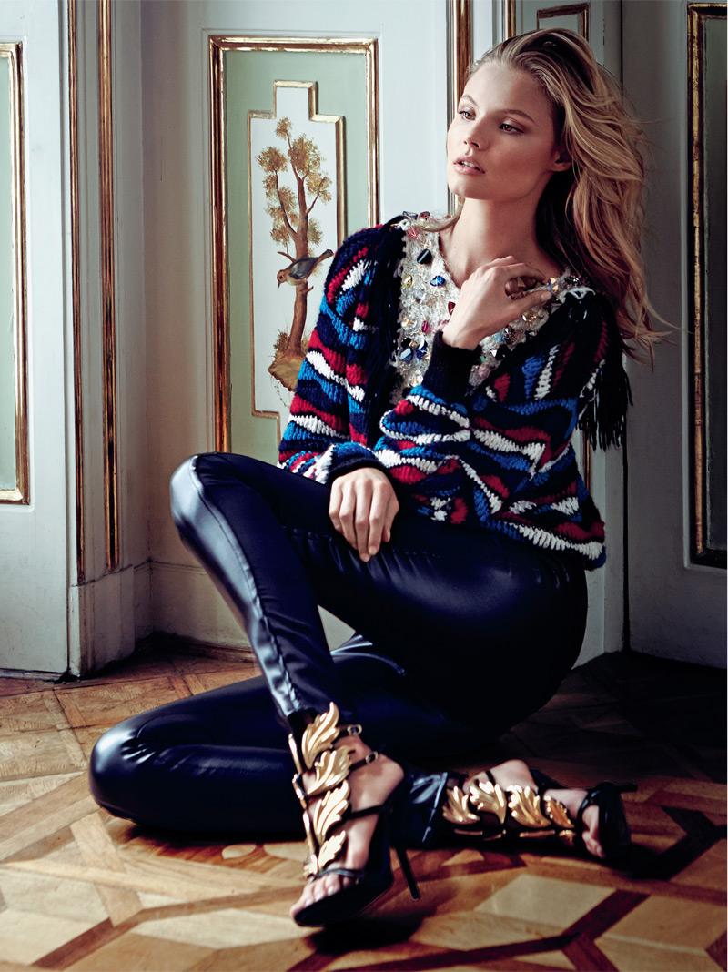Magdalena Frackowiak Stars in Elle Poland's September Issue