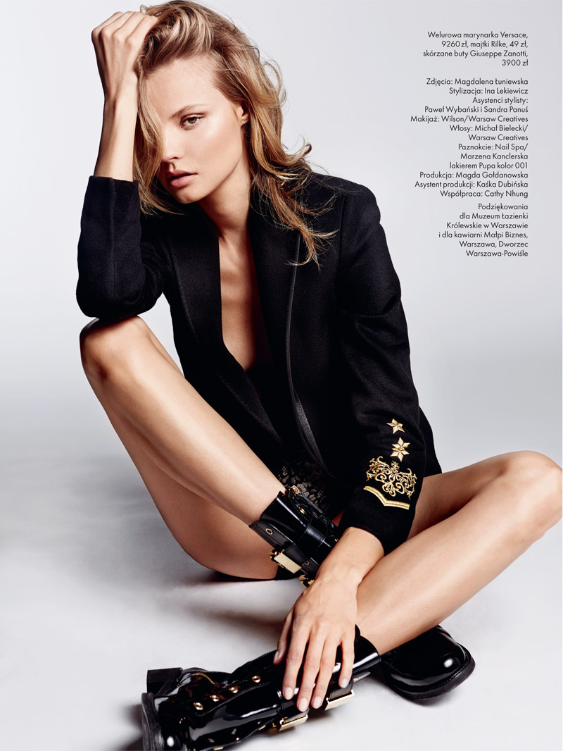 magdalena elle poland7 Magdalena Frackowiak Stars in Elle Polands September Issue