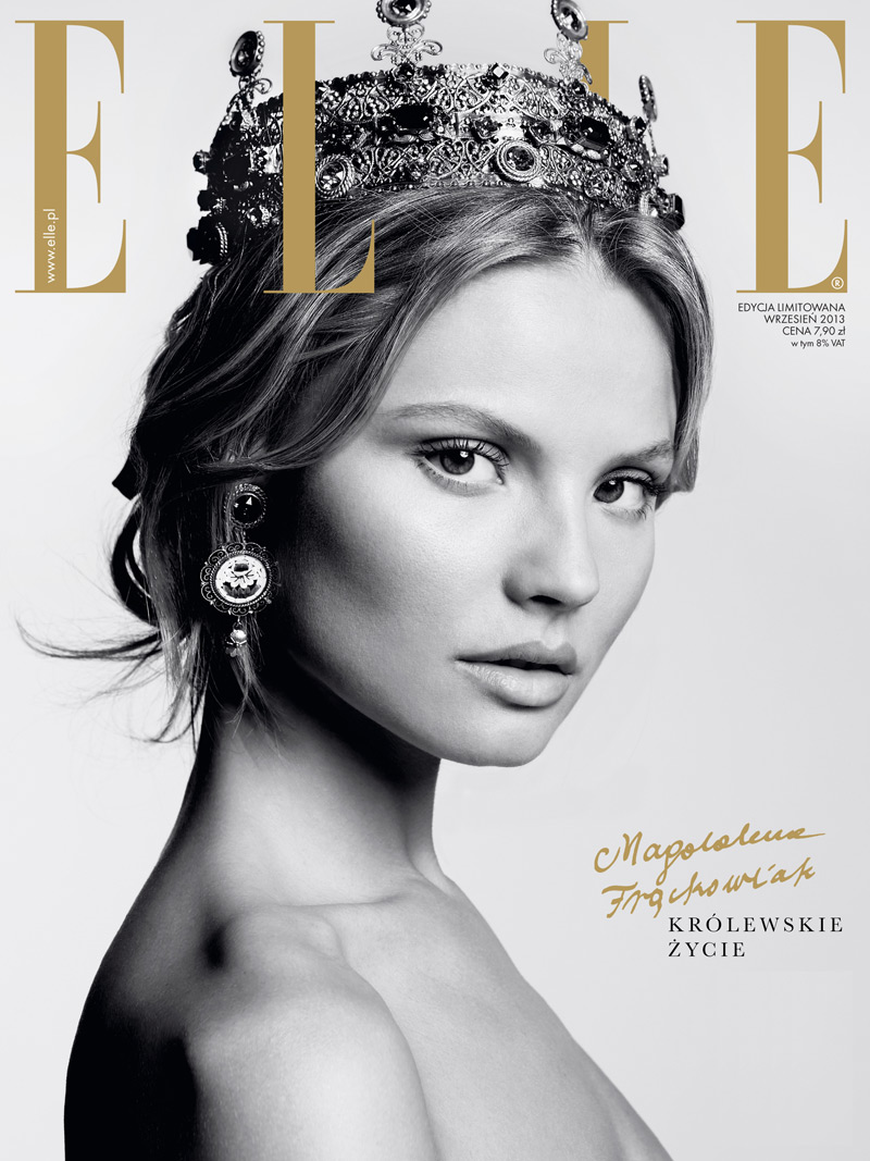 magdalena elle poland8 Magdalena Frackowiak Stars in Elle Polands September Issue