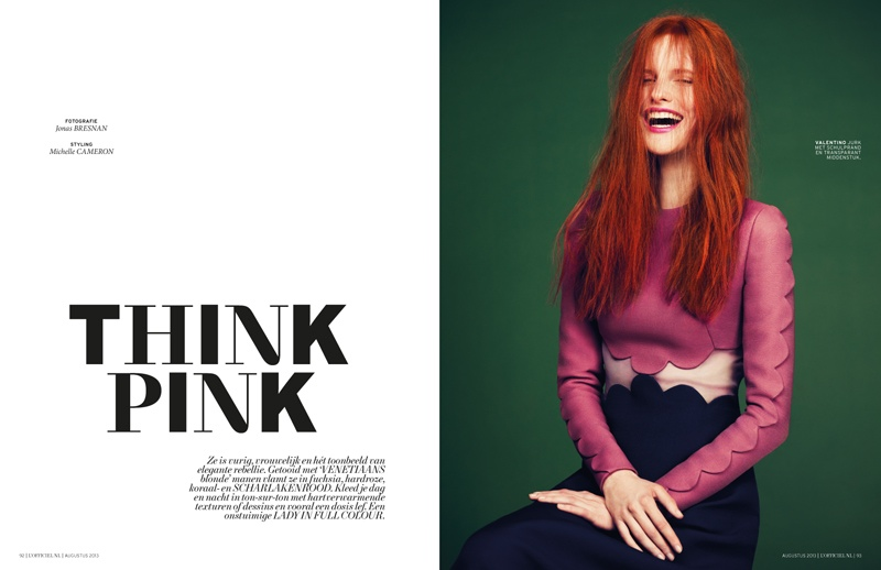 magdalena jasek model1 Magdalena Jasek is Pretty in Pink for LOfficiel Netherlands August 2013