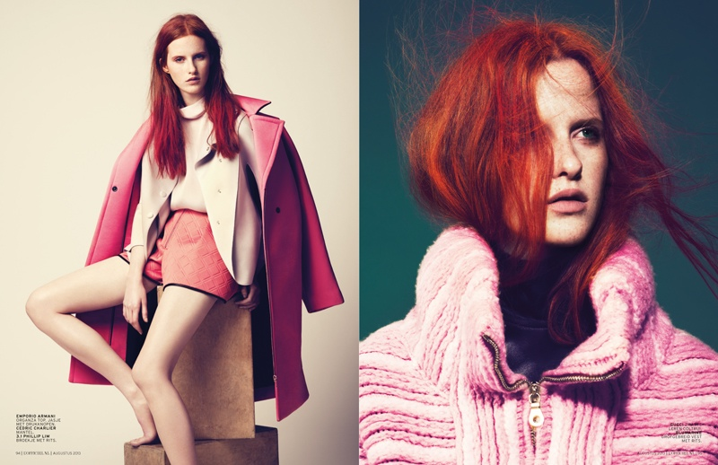 magdalena jasek model2 Magdalena Jasek is Pretty in Pink for LOfficiel Netherlands August 2013