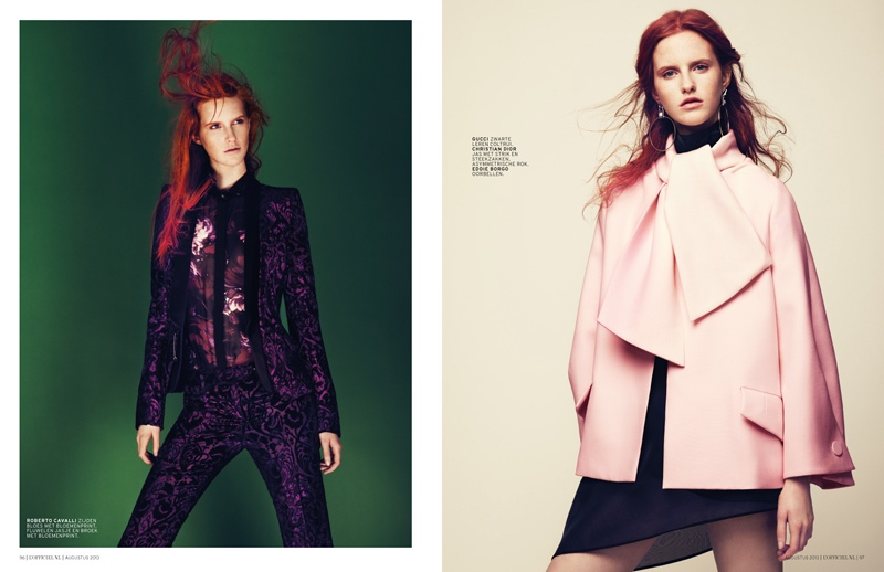 magdalena jasek model3 Magdalena Jasek is Pretty in Pink for LOfficiel Netherlands August 2013