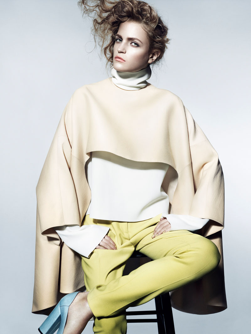 Magdalena Langrova Wears Fall Pastels for Interview Russia Shoot