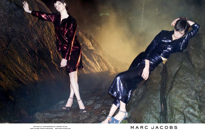 marc jacobs fall 2013 ads11 See More from Marc Jacobs Fall 2013 Ads with Edie Campbell & Lily McMenamy