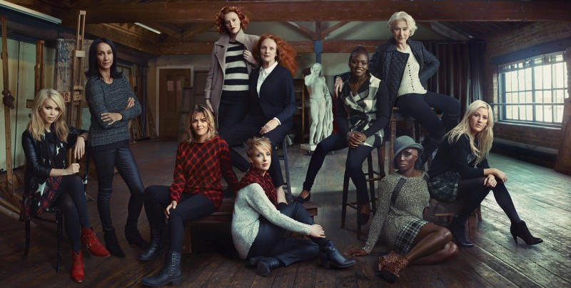 mark and spencers women1 800x403 Helen Mirren, Karen Elson & More Brits Front Marks and Spencer Campaign