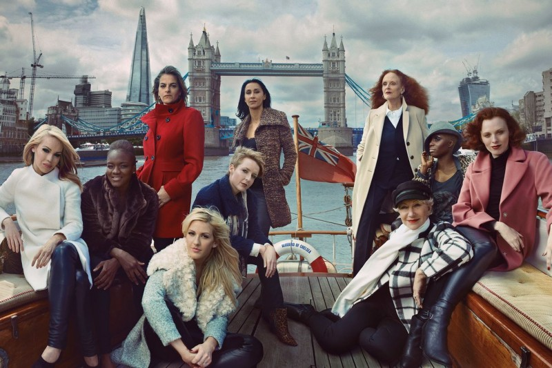 mark and spencers women2 800x533 Helen Mirren, Karen Elson & More Brits Front Marks and Spencer Campaign
