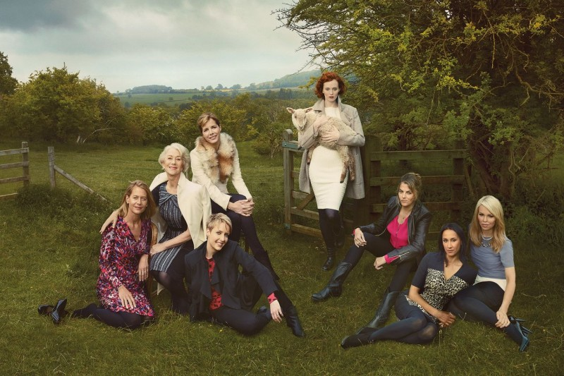 mark and spencers women3 800x533 Helen Mirren, Karen Elson & More Brits Front Marks and Spencer Campaign