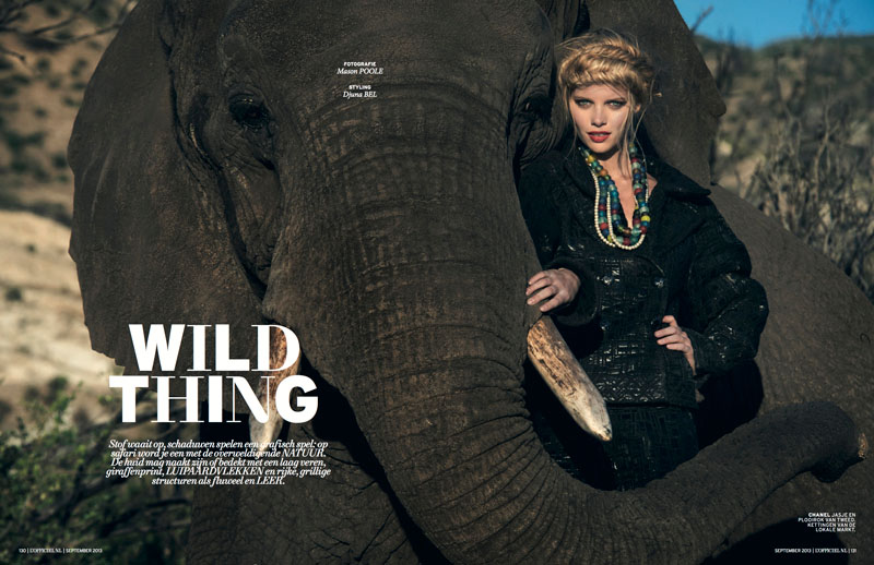 marloes lofficiel nl1 Marloes Horst Gets Wild for LOfficiel Netherlands September 2013