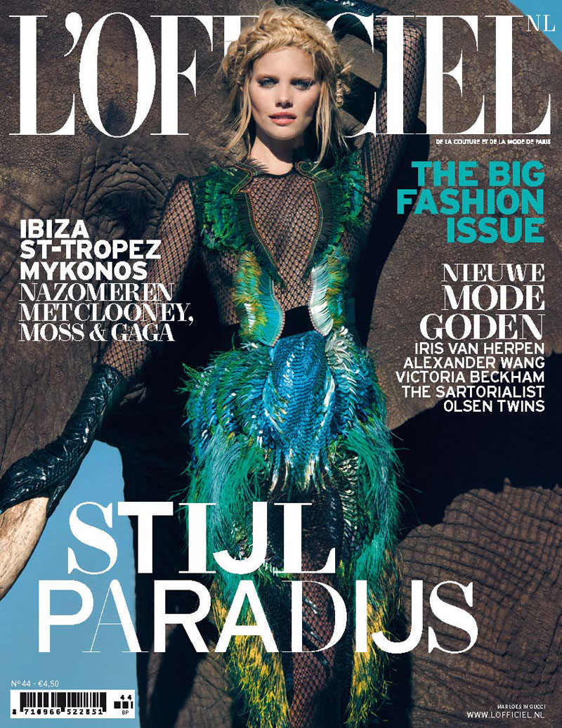 marloes lofficiel nl7 Marloes Horst Gets Wild for LOfficiel Netherlands September 2013