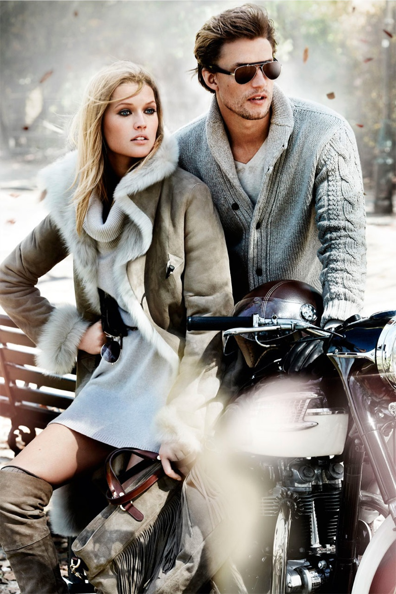 massimo dutti fall1 Toni Garrn Returns for Massimo Duttis Fall 2013 Campaign by Mario Testino