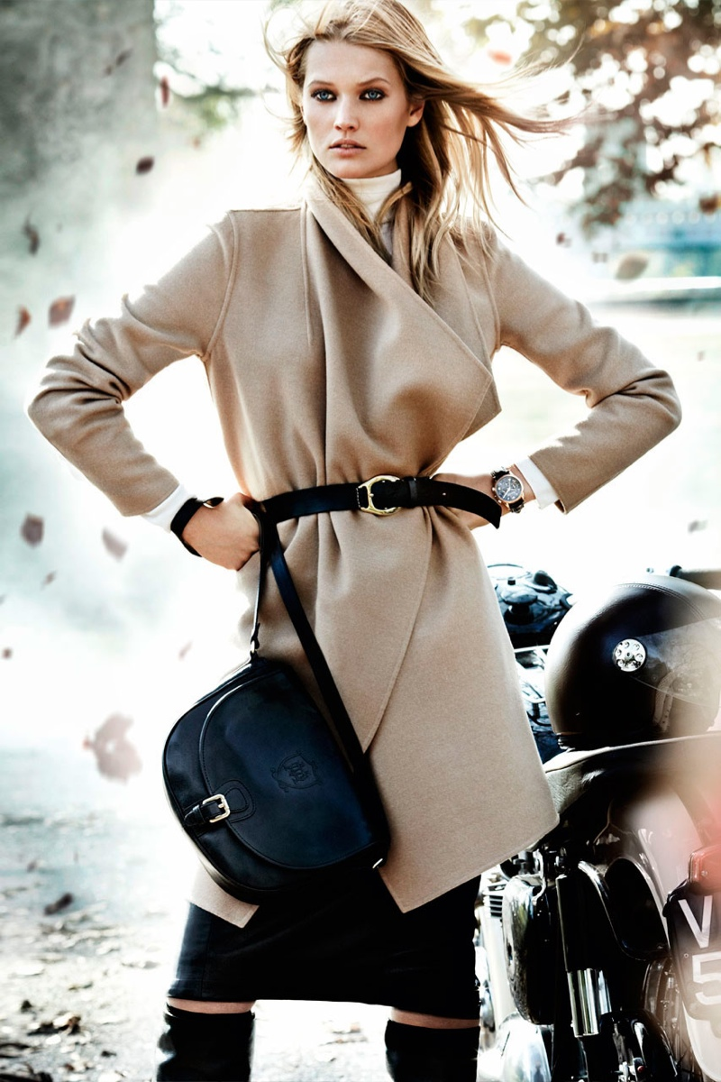 massimo dutti fall2 Toni Garrn Returns for Massimo Duttis Fall 2013 Campaign by Mario Testino