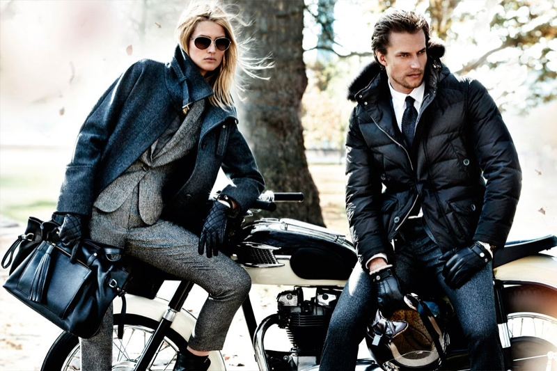 massimo dutti fall4 Toni Garrn Returns for Massimo Duttis Fall 2013 Campaign by Mario Testino