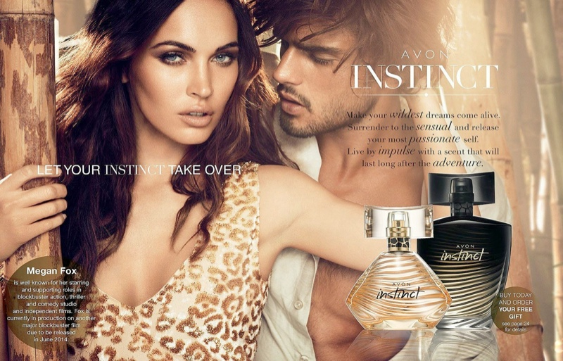 WITH MAKEUP: Megan Fox all glammed up in an Avon ad from last year.