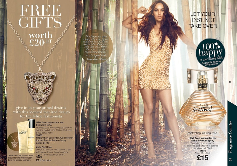 megan fox avon2 Megan Fox Shines in Avon Instinct Fragrance Campaign