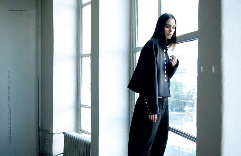 Milos Nadazdin Shoots Mijo Mihaljcic for Elle Serbia's September Cover Story