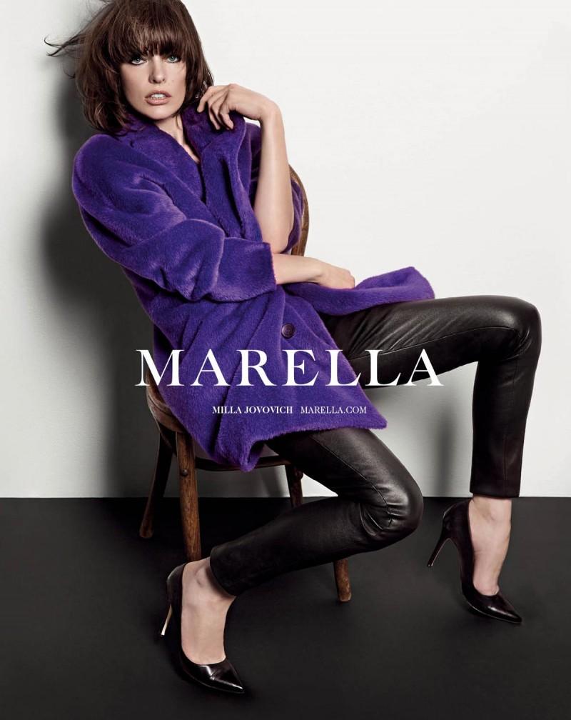 milla jovovich marella6 800x1008 Milla Jovovich Fronts Marella Fall 2013 Campaign by Inez & Vinoodh