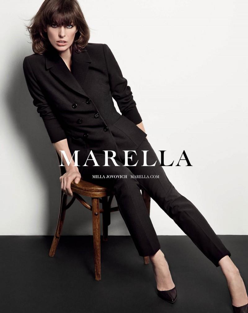 milla jovovich marella8 800x1008 Milla Jovovich Fronts Marella Fall 2013 Campaign by Inez & Vinoodh