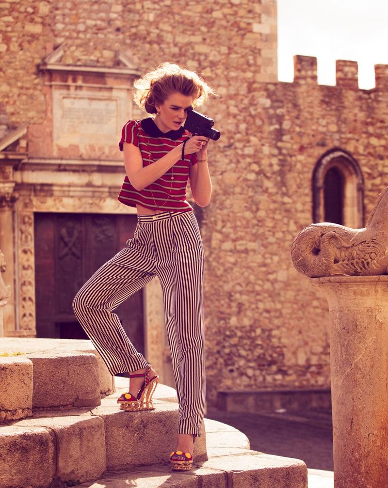 milou marie claire3a Milou Sluis Poses in Sicily for Marie Claire Netherlands by Dennison Bertram
