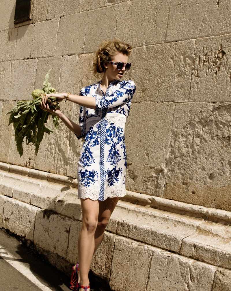 milou marie claire5 Milou Sluis Poses in Sicily for Marie Claire Netherlands by Dennison Bertram