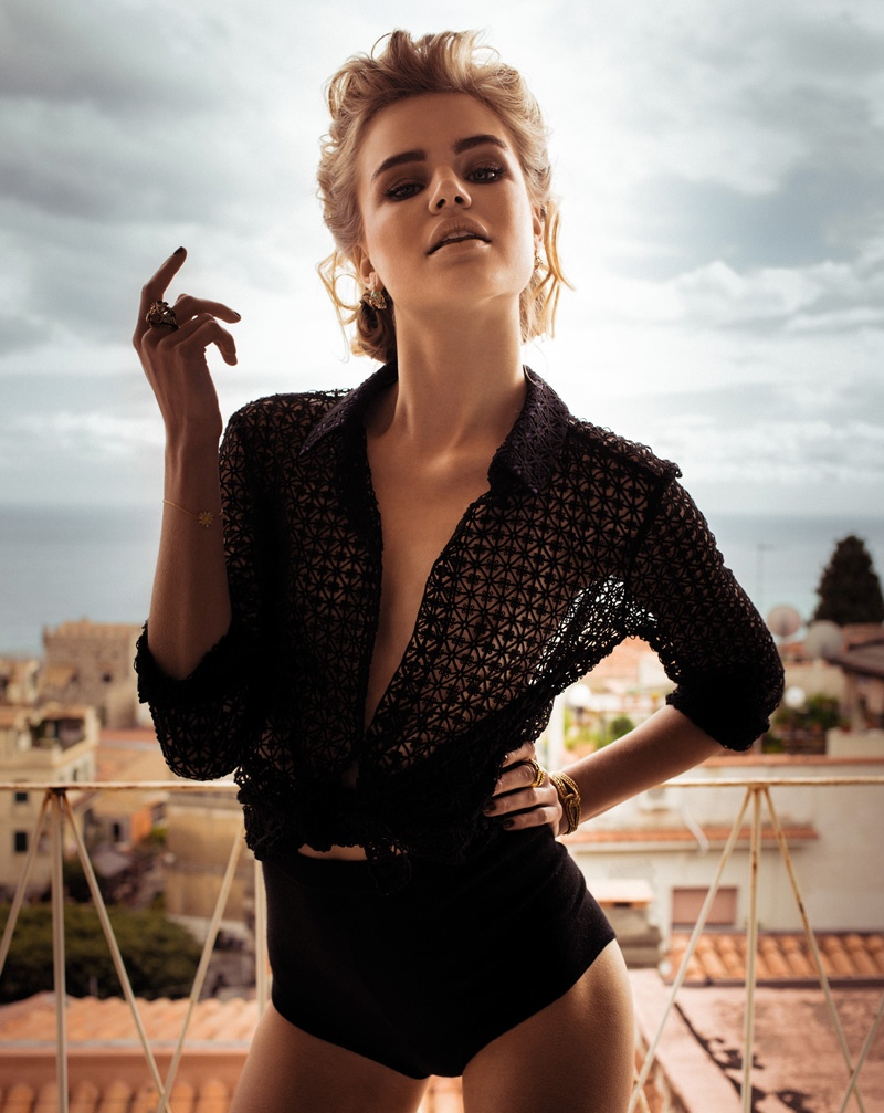 milou marie claire7 Milou Sluis Poses in Sicily for Marie Claire Netherlands by Dennison Bertram