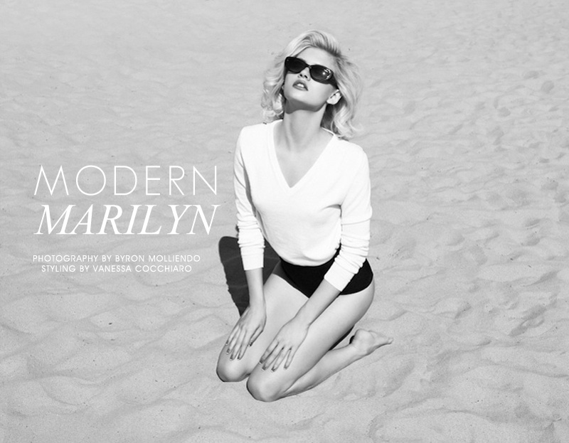 modern marilyn Martina Dimitrova by Byron Mollinedo in Modern Marilyn for Fashion Gone Rogue