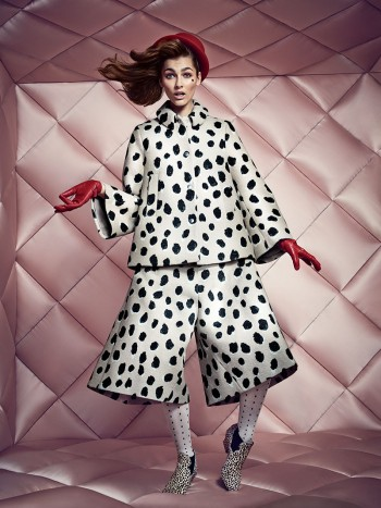 Vika Volkute Wears Eccentric Style for NK Fall 2013 Ads by Peter Gehrke