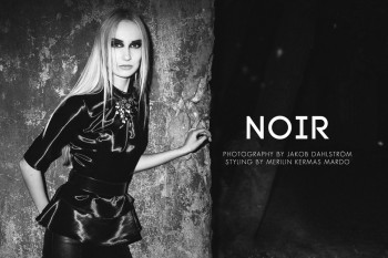 "Nelery Rästas by Jakob Dahlström in ""Noir"" for Fashion Gone Rogue"