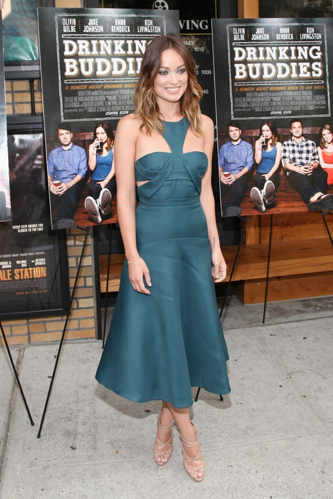olivia wilde j mendel1 Olivia Wilde Wears J. Mendel to Drinking Buddies New York Screening