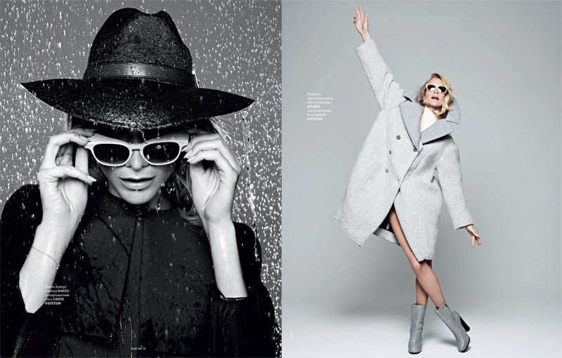 poppy elle shoot3 Poppy Delevingne Stars in Elle Ukraines September Issue by Rankin