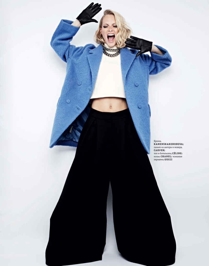 poppy new1 Poppy Delevingne Stars in Elle Ukraines September Issue by Rankin