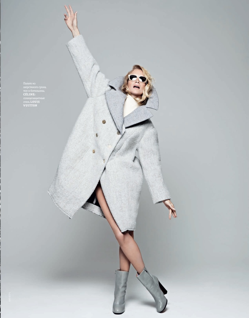 poppy new2 Poppy Delevingne Stars in Elle Ukraines September Issue by Rankin