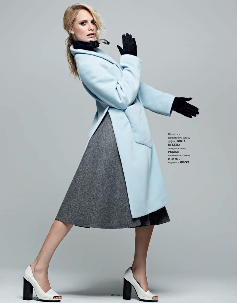 poppy new3 Poppy Delevingne Stars in Elle Ukraines September Issue by Rankin