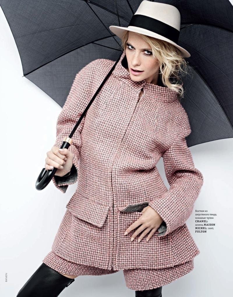 Poppy Delevingne Stars in Elle Ukraine's September Issue by Rankin