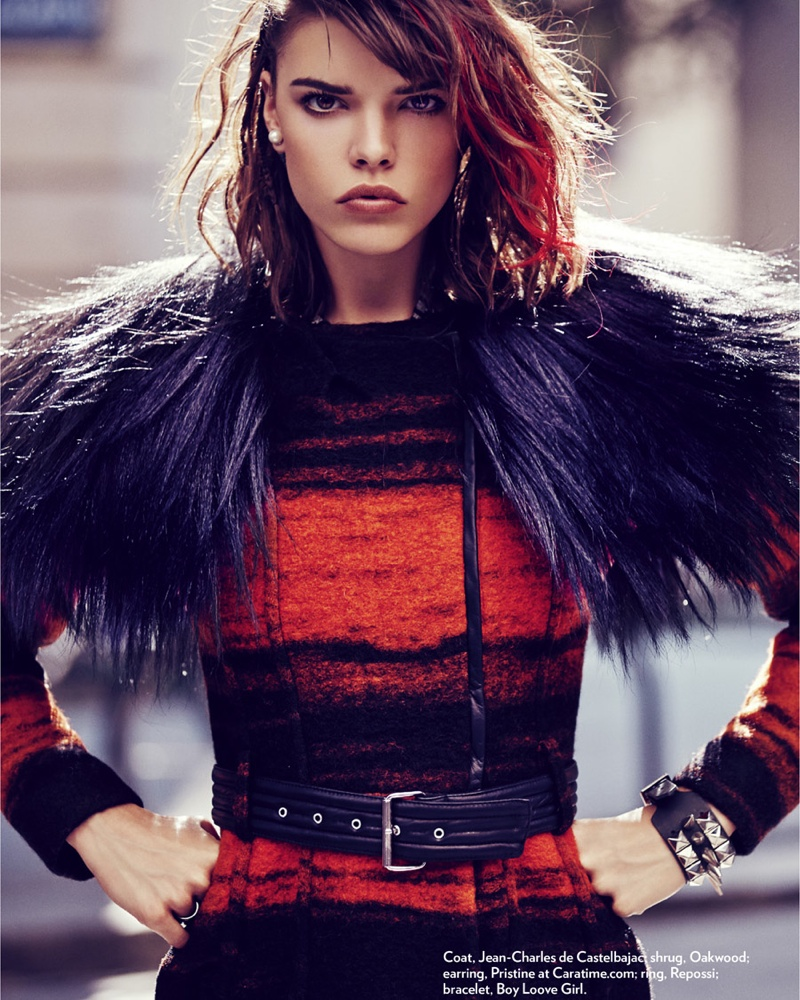 Eva Doll Channels Her Inner Rebel for Marie Claire Romania by Dennison Bertram
