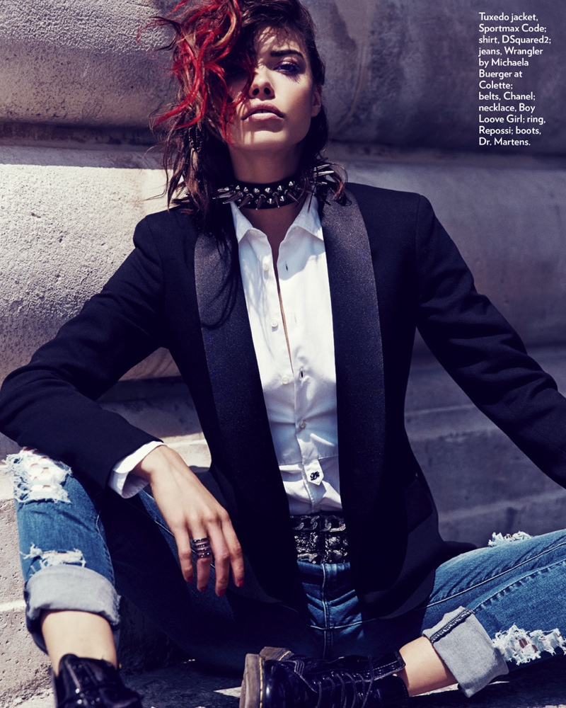 punk fashion shoot4 Eva Doll Channels Her Inner Rebel for Marie Claire Romania by Dennison Bertram