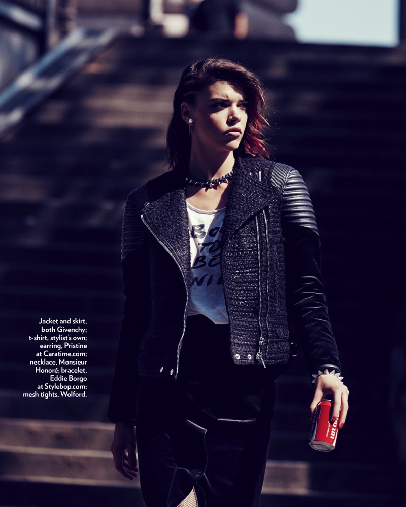 punk fashion shoot7 Eva Doll Channels Her Inner Rebel for Marie Claire Romania by Dennison Bertram