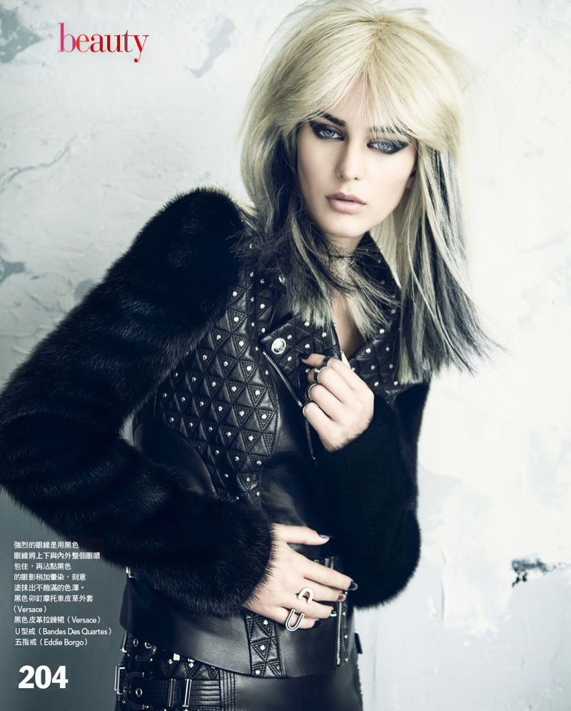 punk yossi michaeli4 Ellinore Erichsen Gets Punk for Vogue Taiwan by Yossi Michaeli