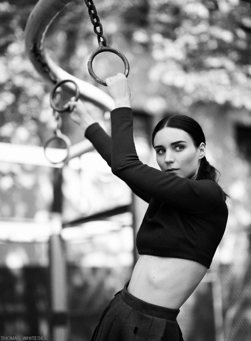 Rooney Mara Stars in Calvin Klein Feature for Elle by Thomas Whiteside