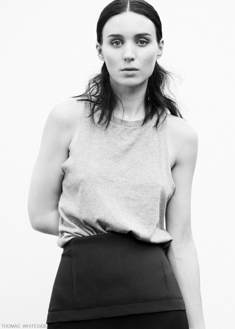 rooney mara thomas whiteside4 Rooney Mara Stars in Calvin Klein Feature for Elle by Thomas Whiteside