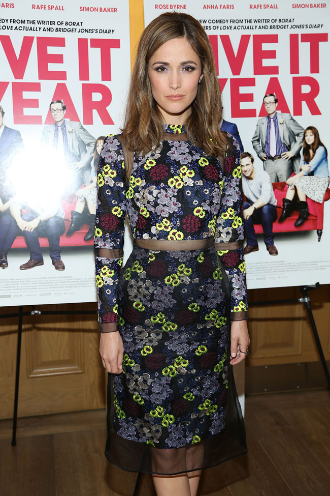 rose byrne erdem2 Rose Byrne is Flowery in Erdem at the I Give It a Year Screening