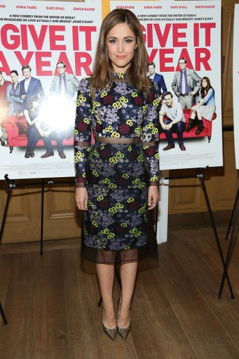 "Rose Byrne is Flowery in Erdem at the ""I Give It a Year"" Screening"