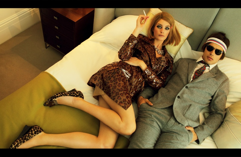 royal tenenbaums fashion1  Elle Ukraine Channels The Royal Tenenbaums for Feature by Nikolay Biryukov