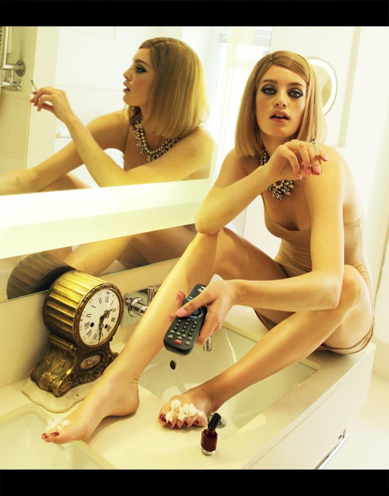 "Elle Ukraine Channels ""The Royal Tenenbaums"" for Feature by Nikolay Biryukov"