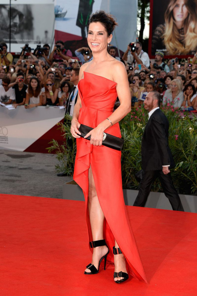 sandra j mendel2 Sandra Bullock Wears J. Mendel at the 70th Annual Venice Film Festival