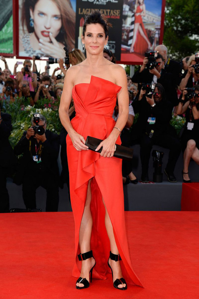 sandra j mendel3 Sandra Bullock Wears J. Mendel at the 70th Annual Venice Film Festival