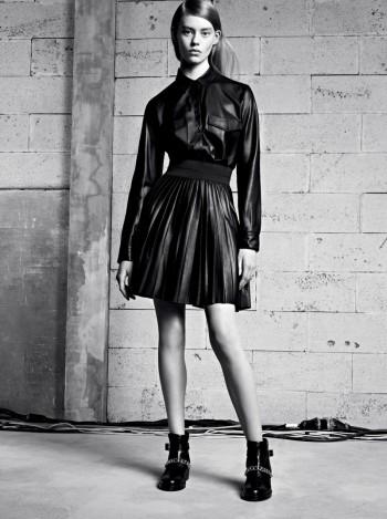 Ondria Hardin Tapped for Sandro Fall/Winter 2013 Lookbook