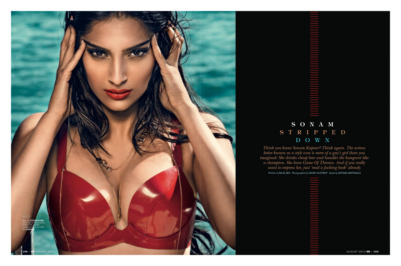 sanom kapoor gq india1 Sonam Kapoor Stuns in GQ Indias August Cover Story