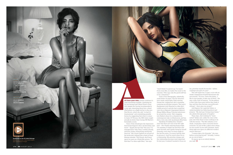 sanom kapoor gq india4 Sonam Kapoor Stuns in GQ Indias August Cover Story
